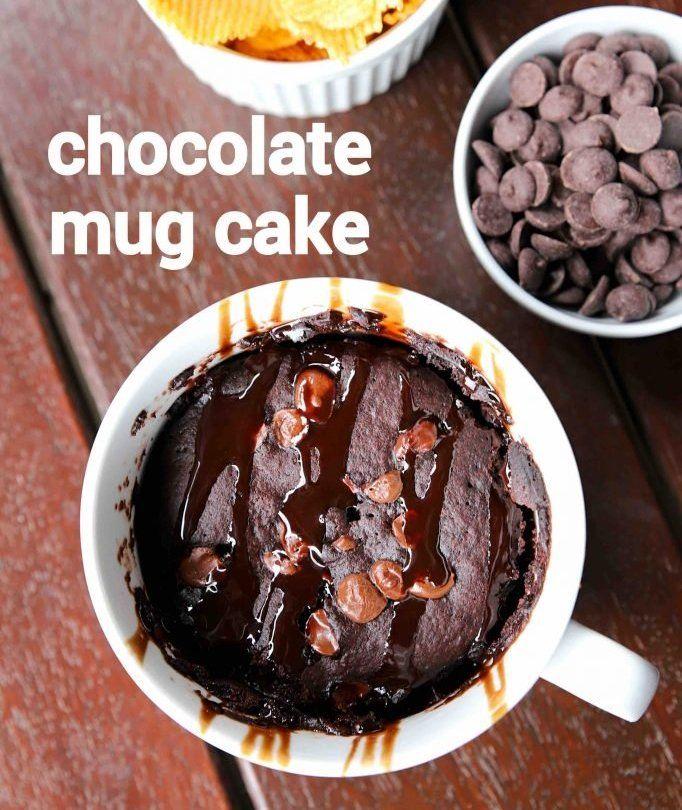 eggless chocolate mug cake   mug cake recipe in pressure ...