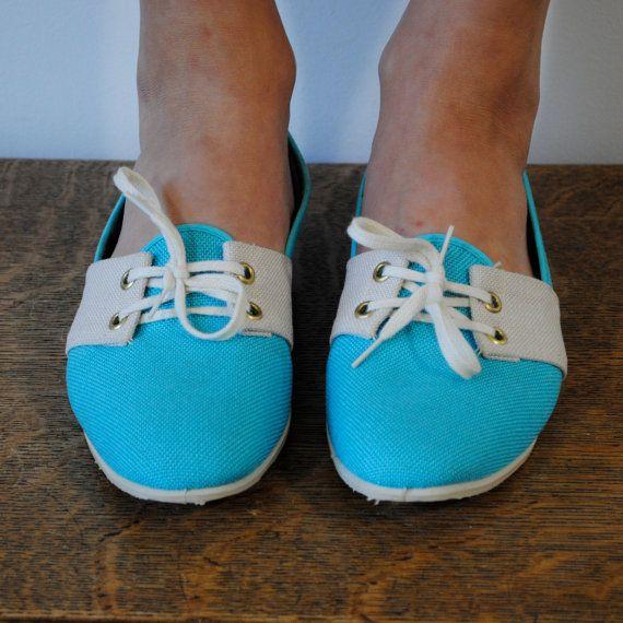 vintage shoes / turquoise and cream lace up by maisondhibou also looooooooooove!!!!! X1000000!