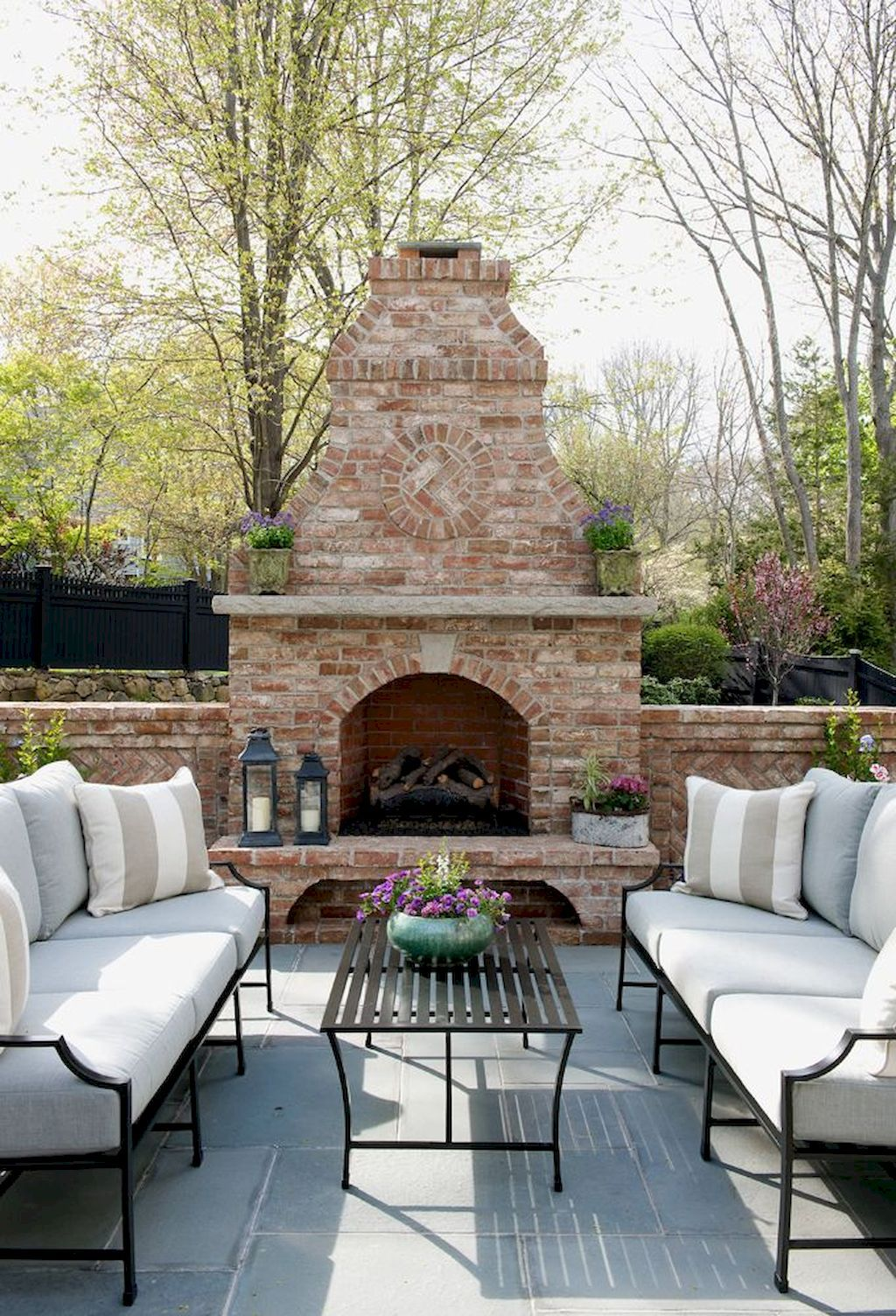 finest outside fireplaces desigen concepts lake houses