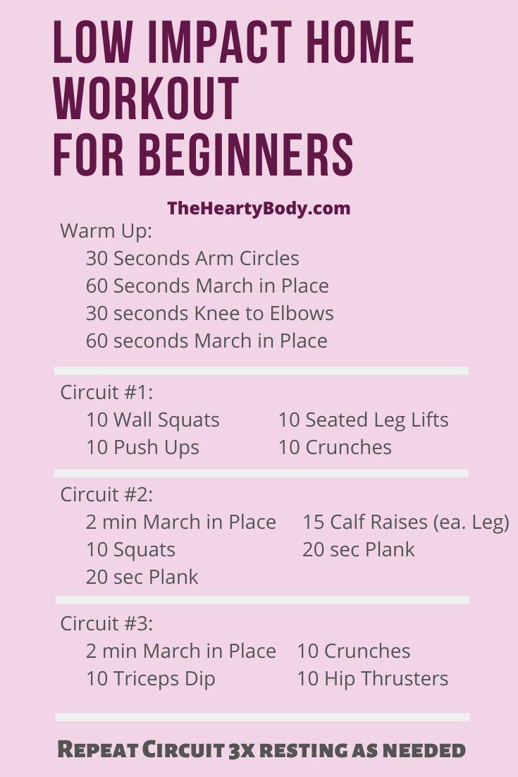 Beginner Home Workouts - No Equipment Needed