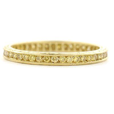 leigh jay nacht inc canary yellow diamond wedding band l3026 - Yellow Diamond Wedding Ring