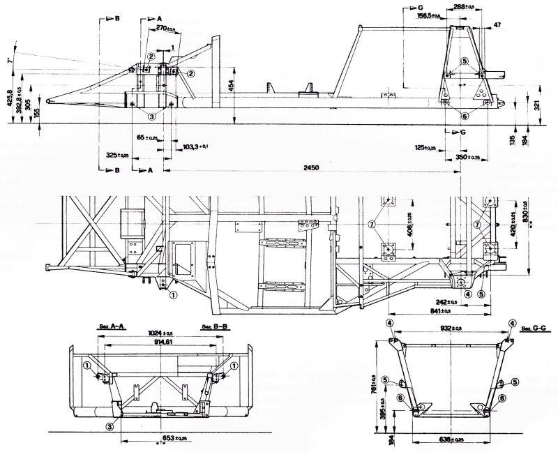 race car chassis blueprints