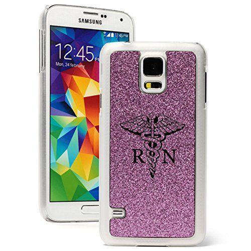 Samsung Galaxy S5 Glitter Bling Hard Case Cover Medical Symbol Rn Registered Nurse Purple Soccer Iphone Case Case Samsung Galaxy