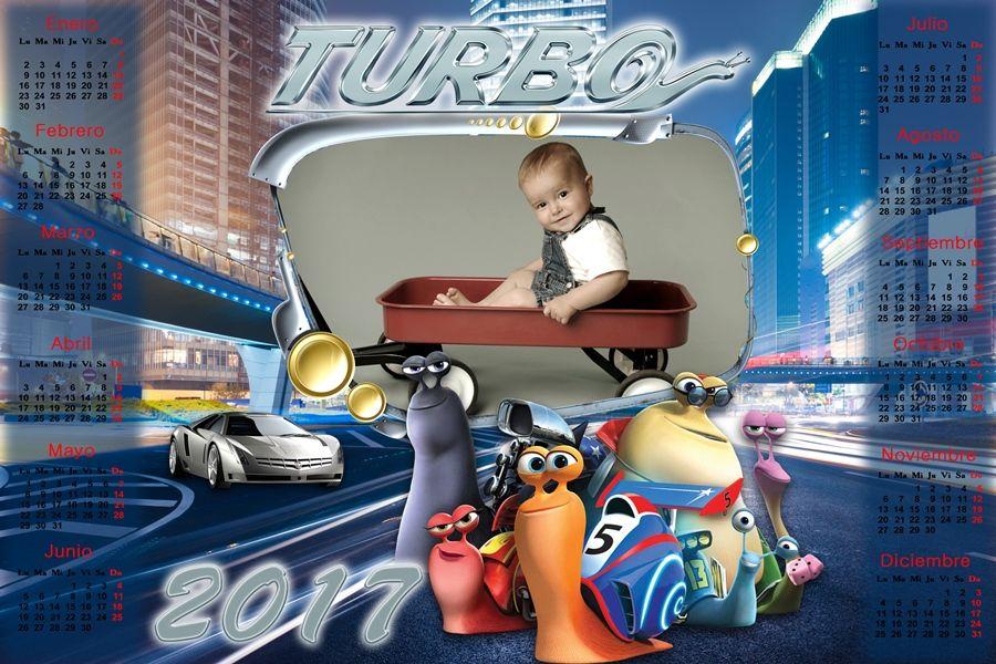 Recursos Photoshop Llanpac: Calendario del 2017 de la película Turbo para Phot...