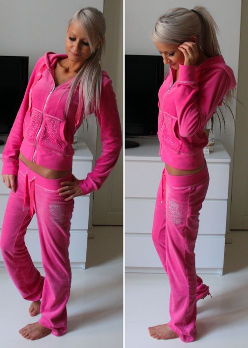 I Have A Hot Pink Juicy Couture Track Suit And Guys It Is