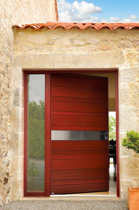 Porte du0027entrée en Red Cedar modèle Nativ 8 Portes Nativ by Zilten
