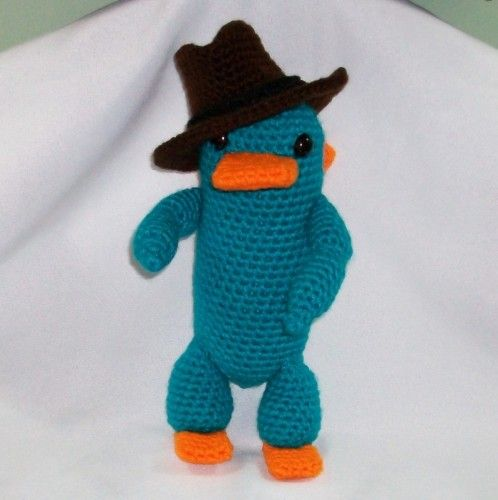 Perry De Phineas Ferb Crochet Perry The Platypus Pdf Pattern