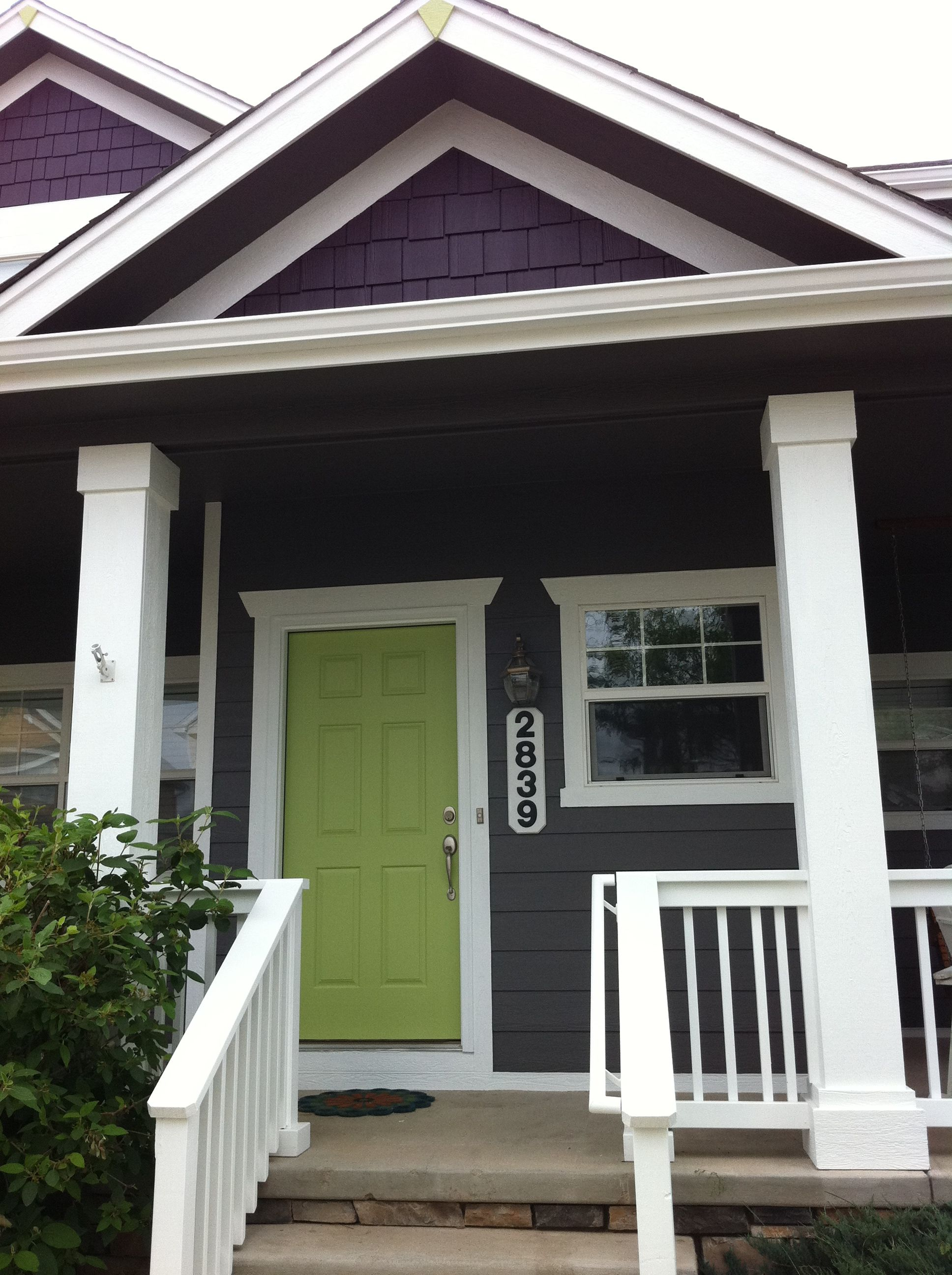 Mossy green navy bright front doors front door paint - Bright paint colors for exterior house ...