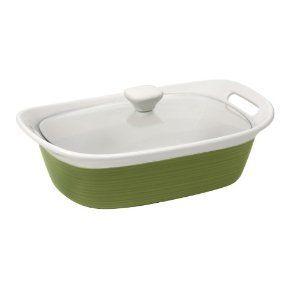 Amazon.com: CorningWare Etch 2-1/2-Quart Casserole with Cover, Green: Kitchen & Dining