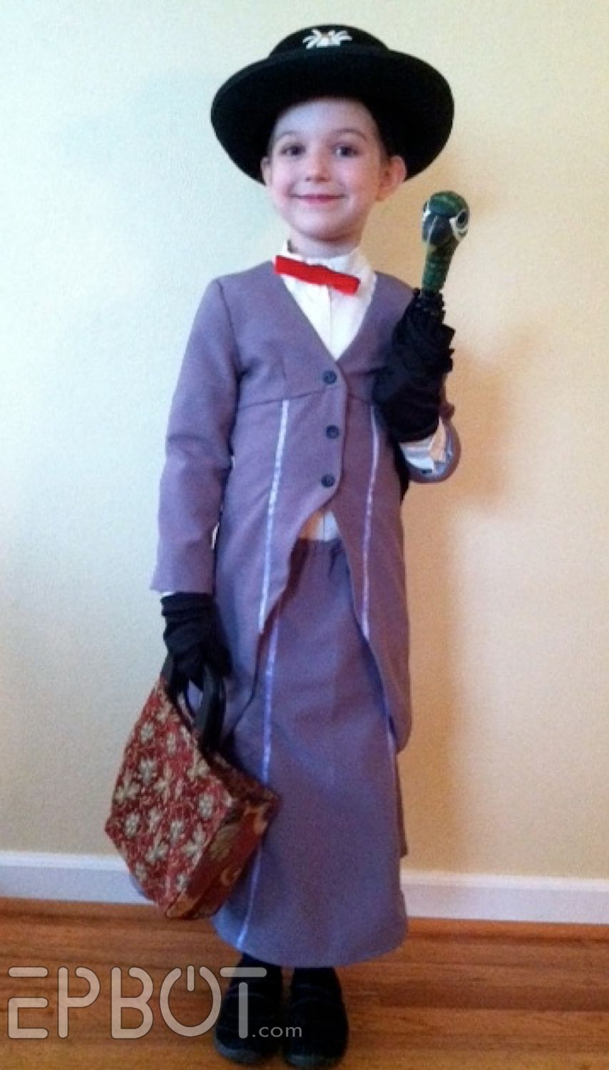 Too cute - homemade Mary Poppins costume!