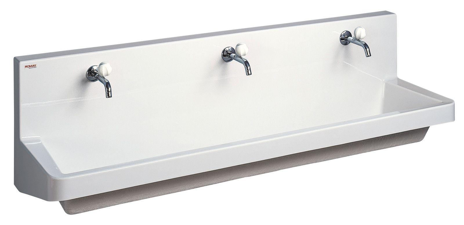 Lavabo collectif lavabo rigole jardin d 39 enfants romay for Lavabo salle de bain petit espace