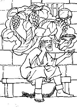 Joseph Interprets Pharaoh's Dream Coloring Page : joseph, interprets, pharaoh's, dream, coloring, Butler's, Dream, Sunday, School, Coloring, Pages,, Bible, Crafts