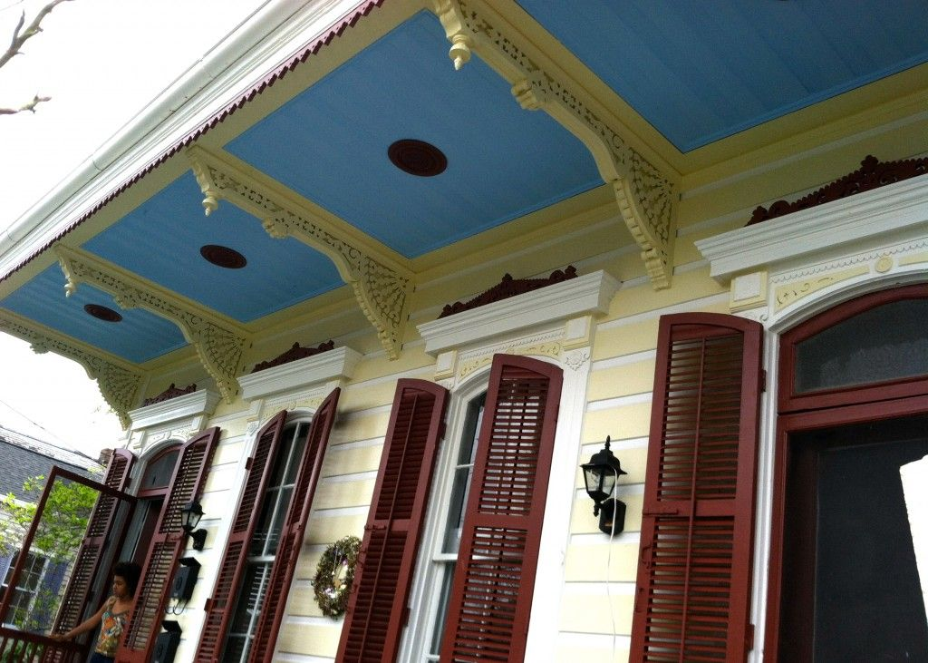 trim colors for yellow houses New Orleans House Paint Colors