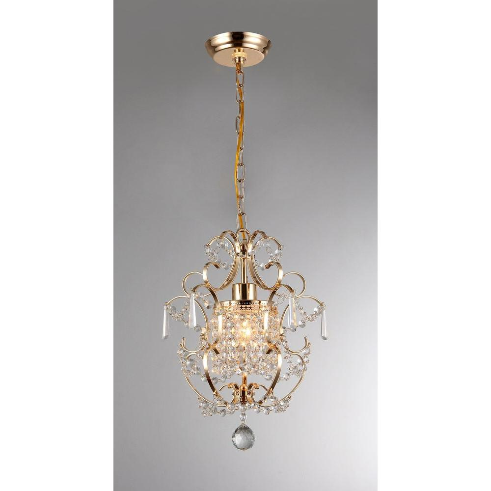 Emily 11 In Gold Indoor Crystal Chandelier With Shade Rl4025gd