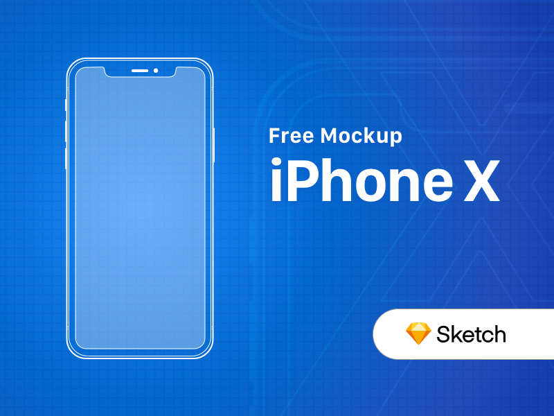 Free Iphone X Outline Mockup Free Iphone Sketch Free Iphone