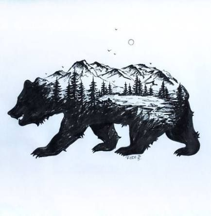Nuevas ideas de tatuaje de oso de montaña – sandy