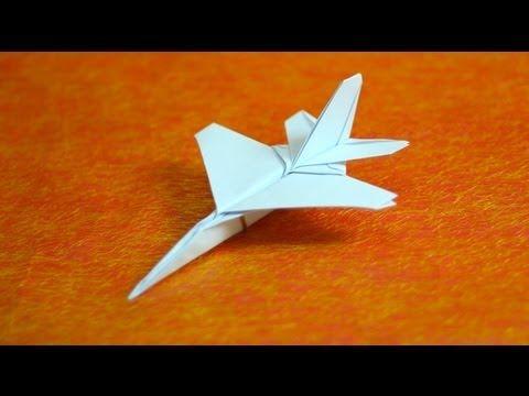 How to make origami F16 jet fighter paper airplanes step by step DIY  tutorial instructions,