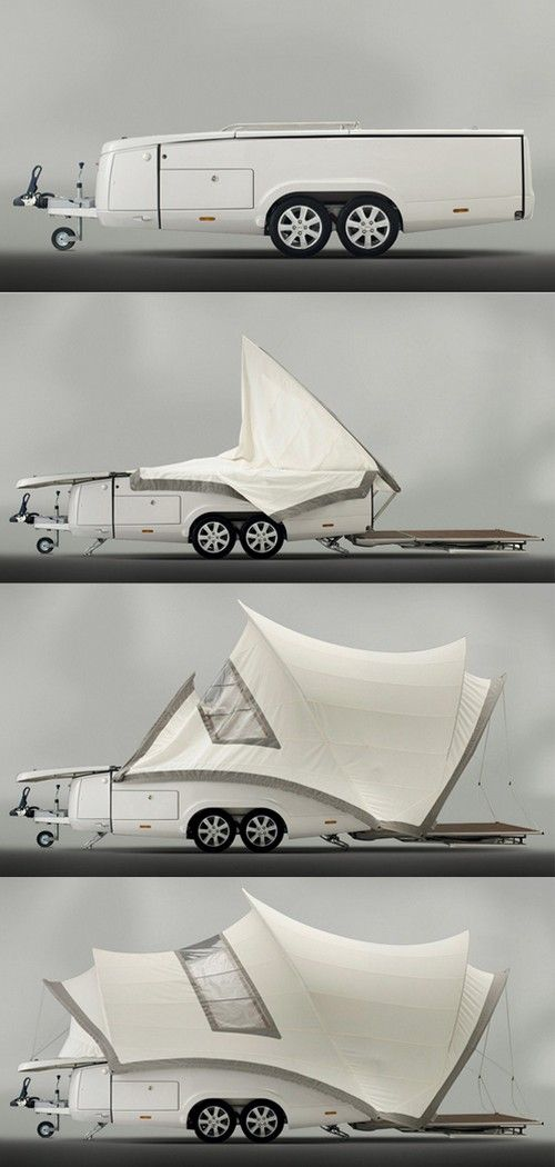 pop-up tent on wheels | Living With Nature | Luxury camping
