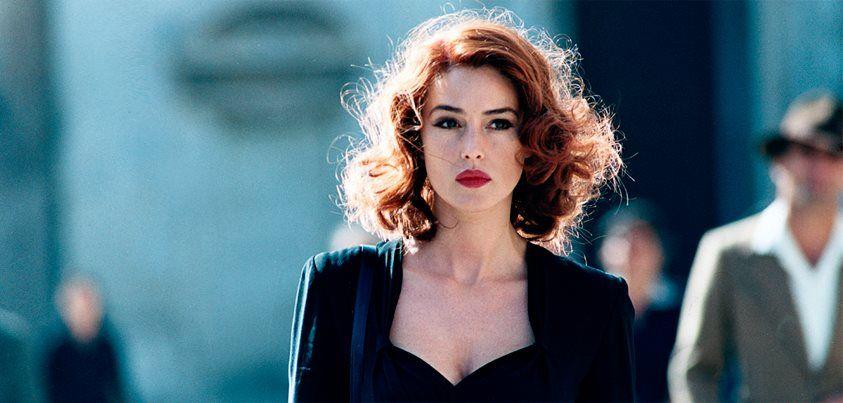 hair Monica bellucci red