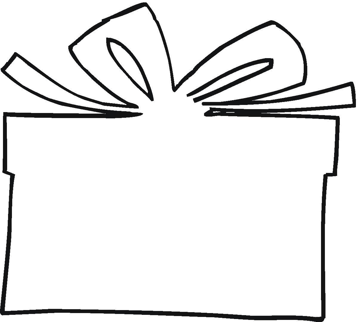 Christmas Present Outline Clipart #1 | IDEAS | Pinterest | Outlines, Cards and Clip art