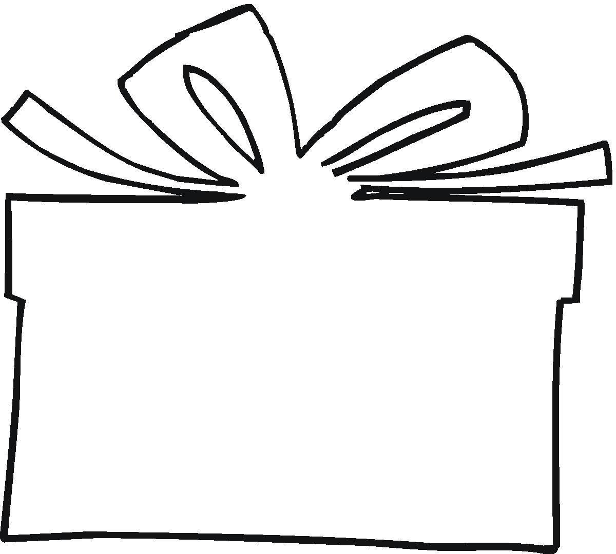 Christmas Present Outline Clipart 1 Ideas Pinterest