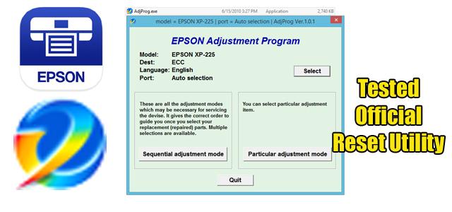 Epson Expression Series Xp 225 Adjustment Program Reset Utility