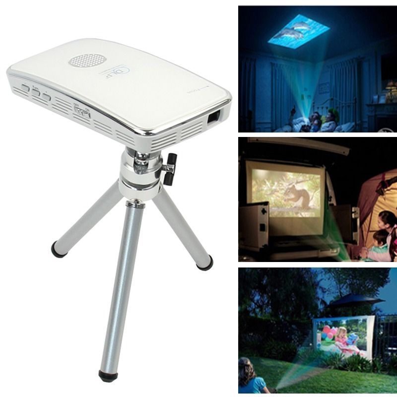 Theater Room With Hidden Projector: Mini Pocket HDMI Input LED DLP Projector For Samsung