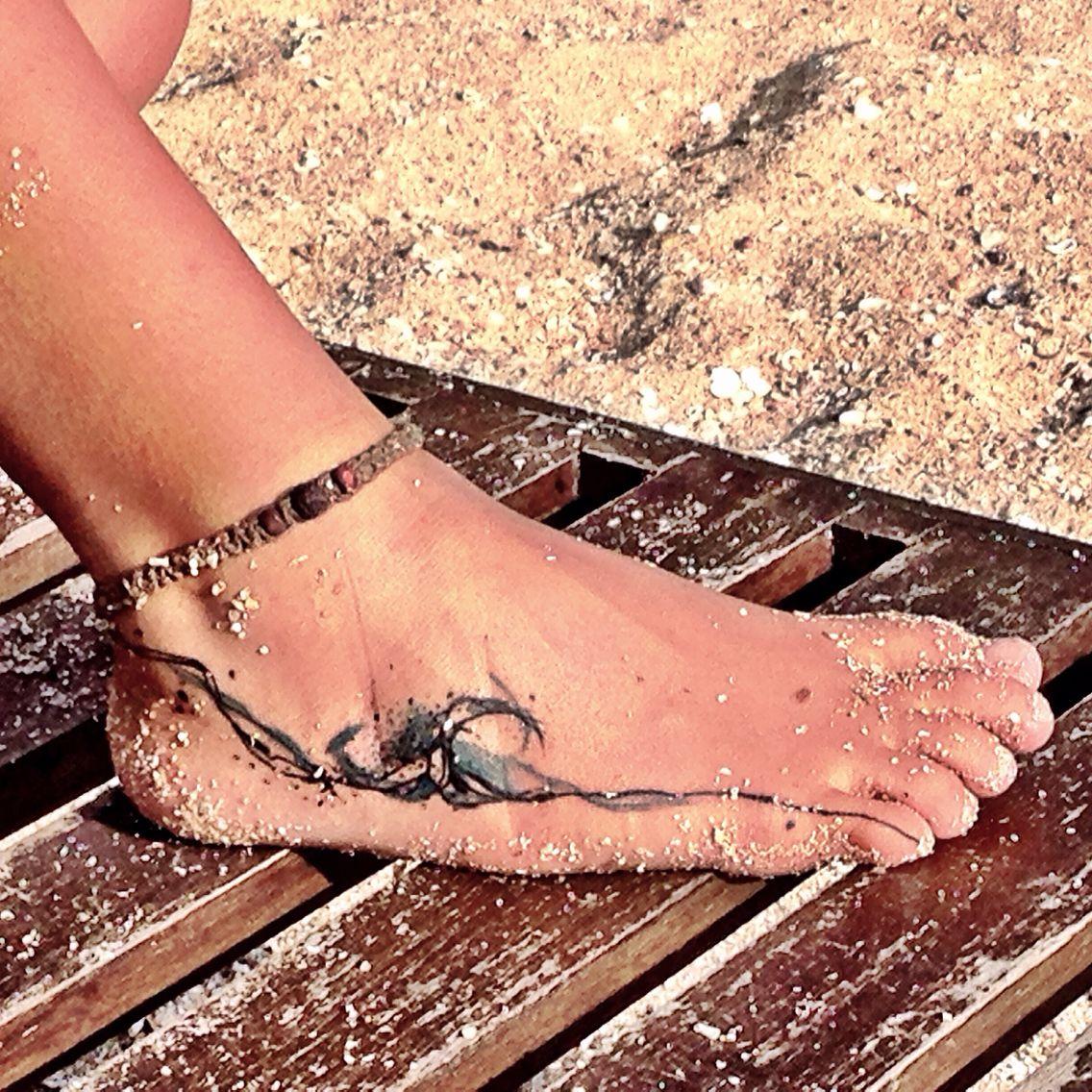 Photo of On the wave !!! #surftattoo #wavetattoo #surfhousesrilanka #tattoo #surf