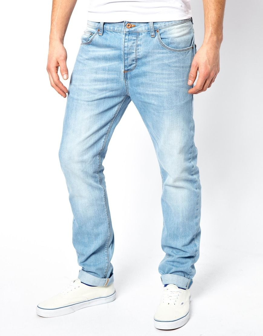 Mens Slim Light Blue Jeans | pants etc. | Pinterest | Light blue ...