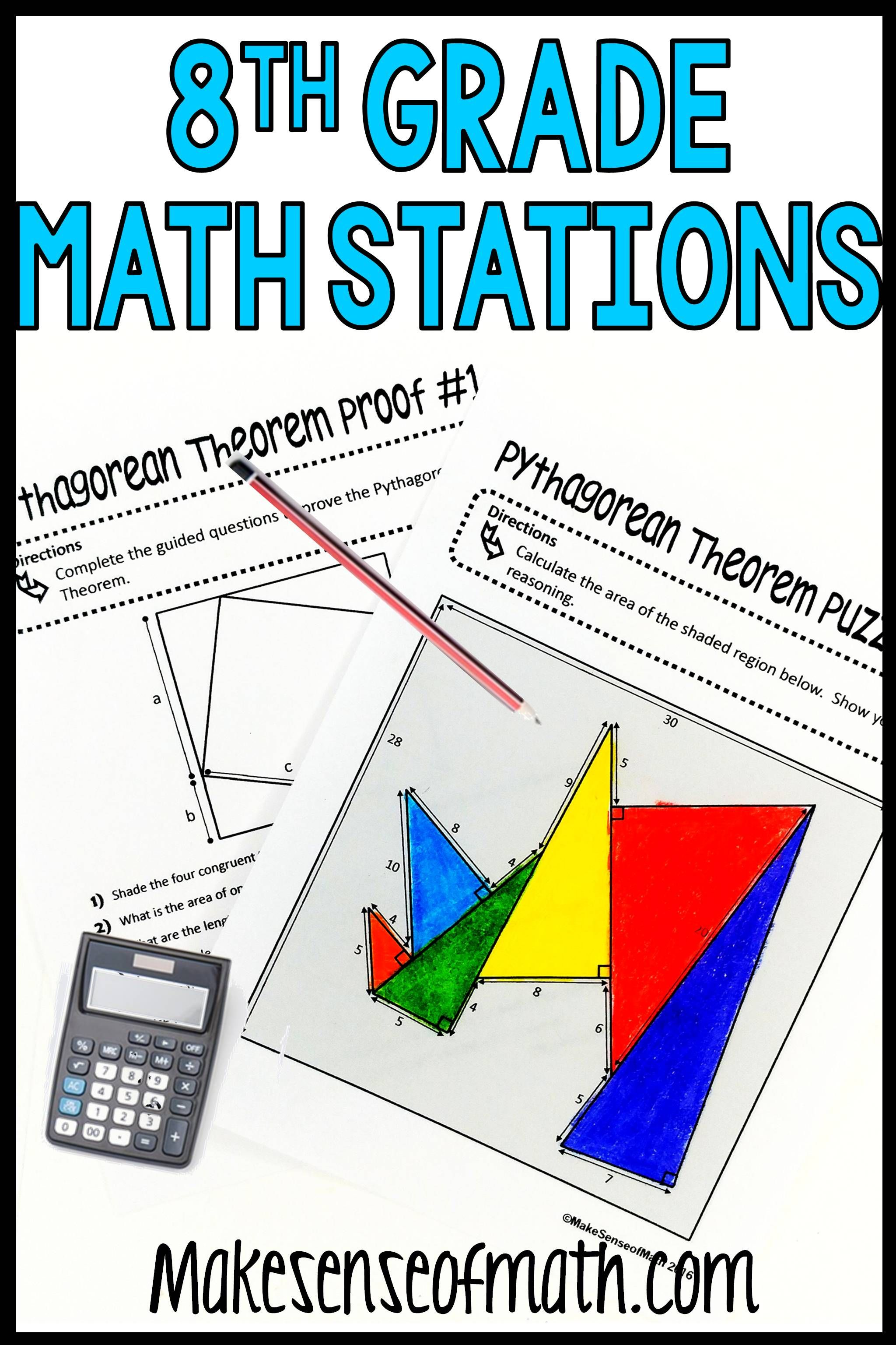 8th Grade Math Stations Mini Bundle
