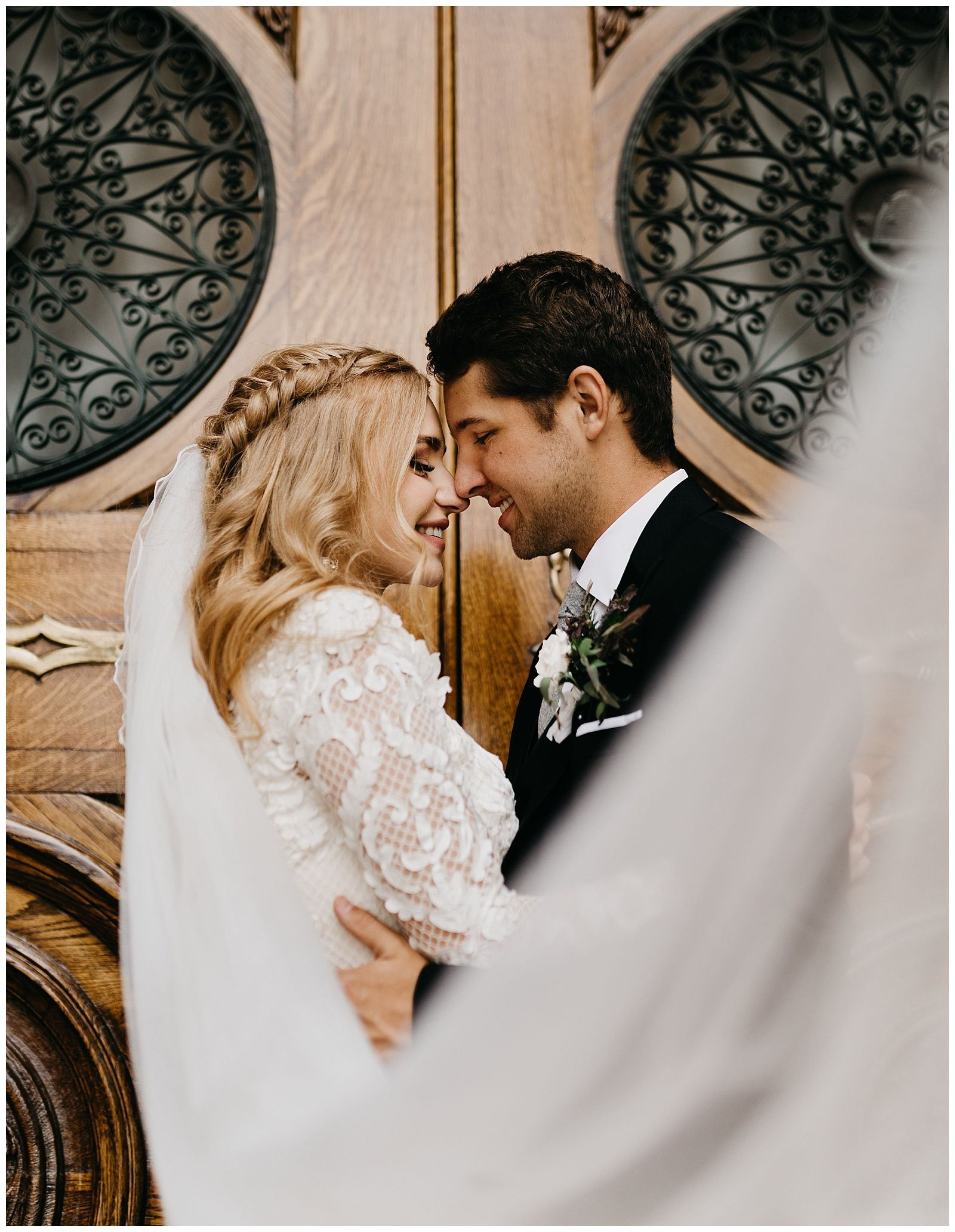 Madeline And Logan Salt Lake Temple Copper Nickel Wedding