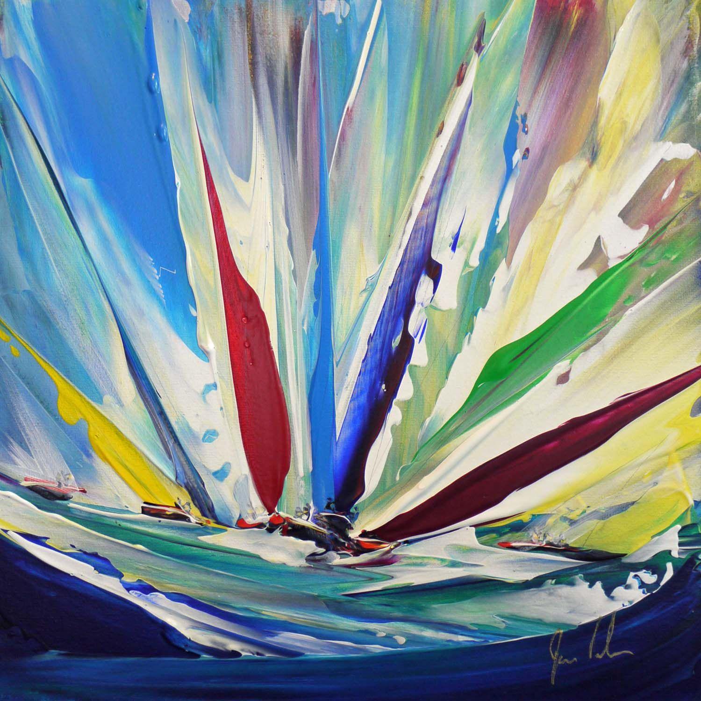 'Heeling Hard' - Acrylic on Canvas, 30x30cm