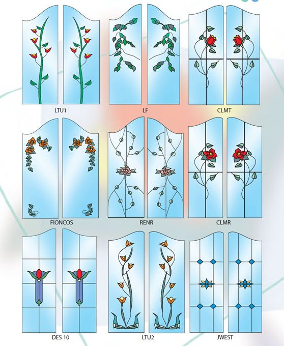 Stained Glass Kitchen Cabinet Doors Patterns: Stained Glass Panel Cabinet Insert