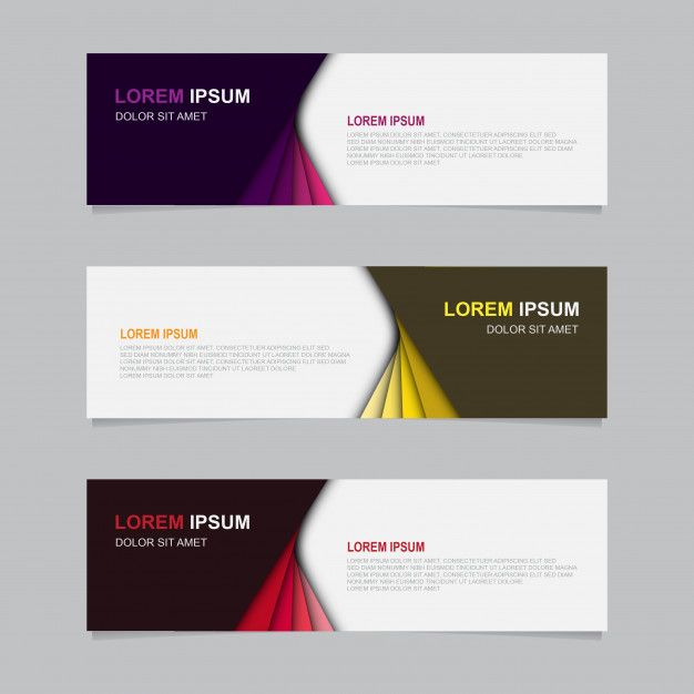 Design Banner Background Modern Web Template Di 2020 Desain