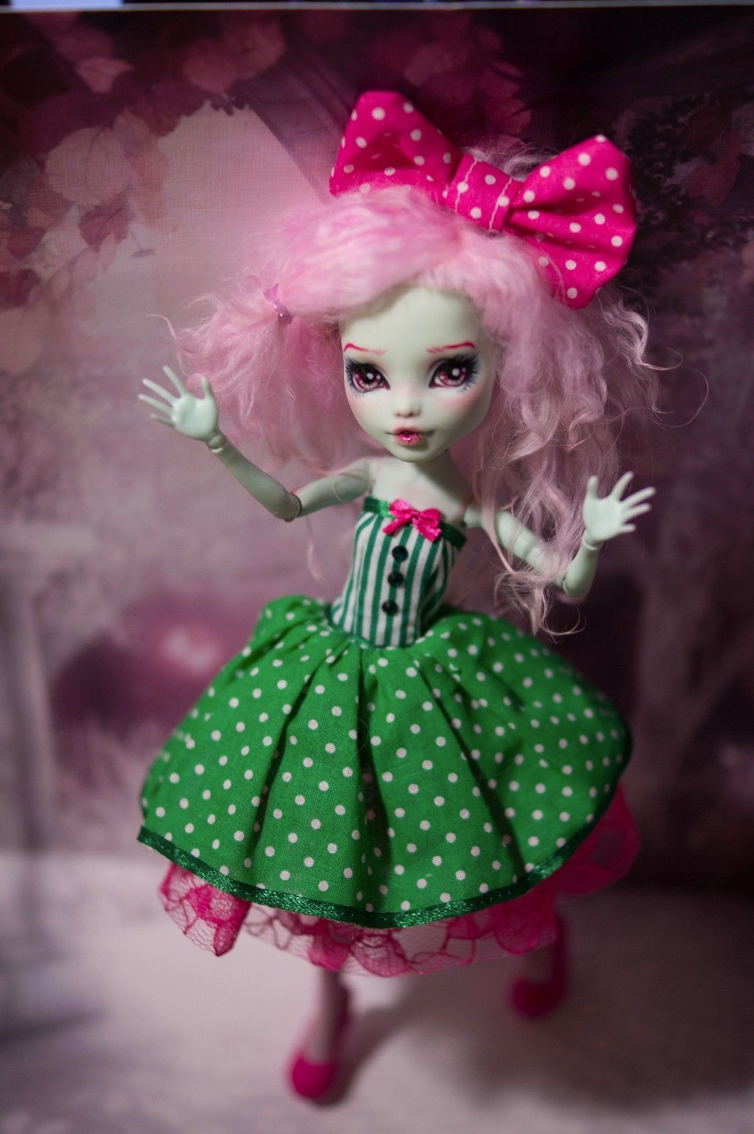 Custom Monster High Doll Frankie Stein OOAK Repaint by Prescilla ...