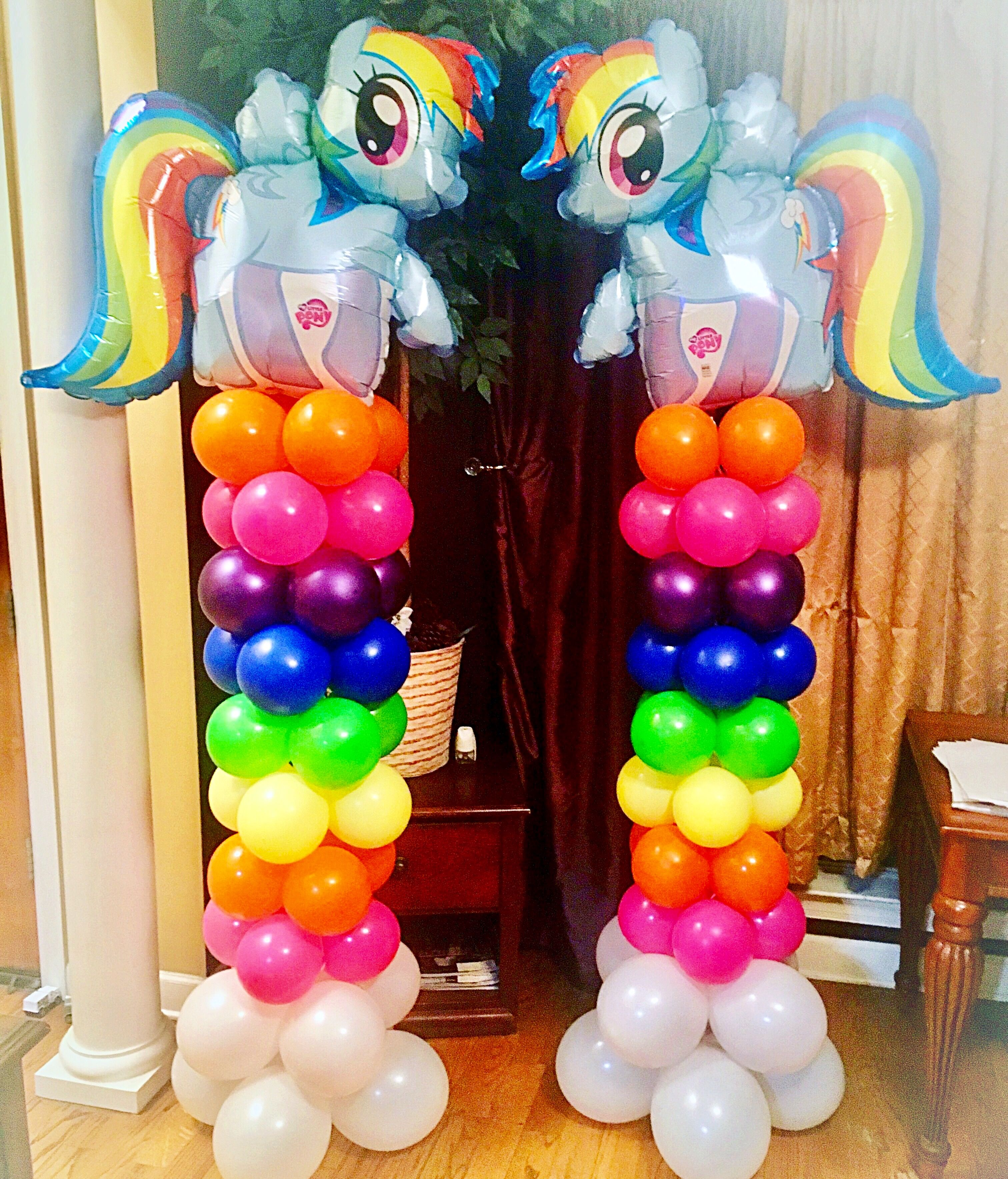 My Little Pony Balloon Columns My Little Pony Birthday My Little Pony Birthday Party My Little Pony Decorations