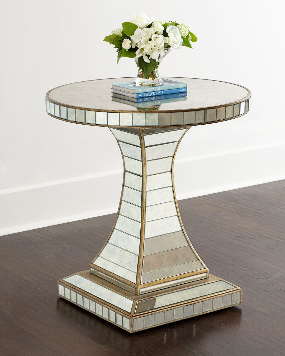 Hooker Furniture Janiece Mirrored Side Table