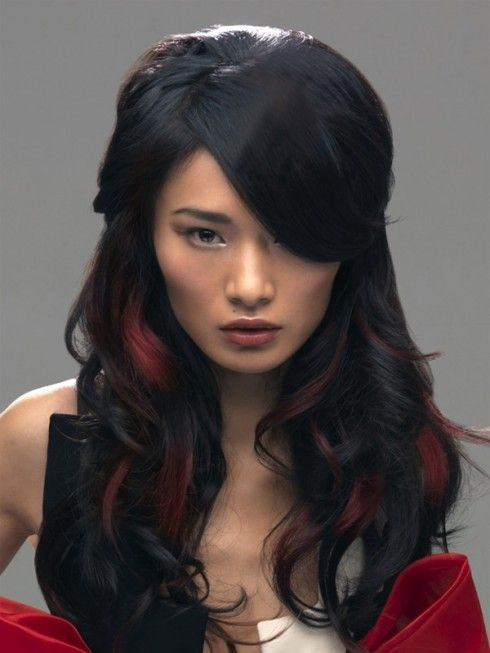 Red highlights Hair Color