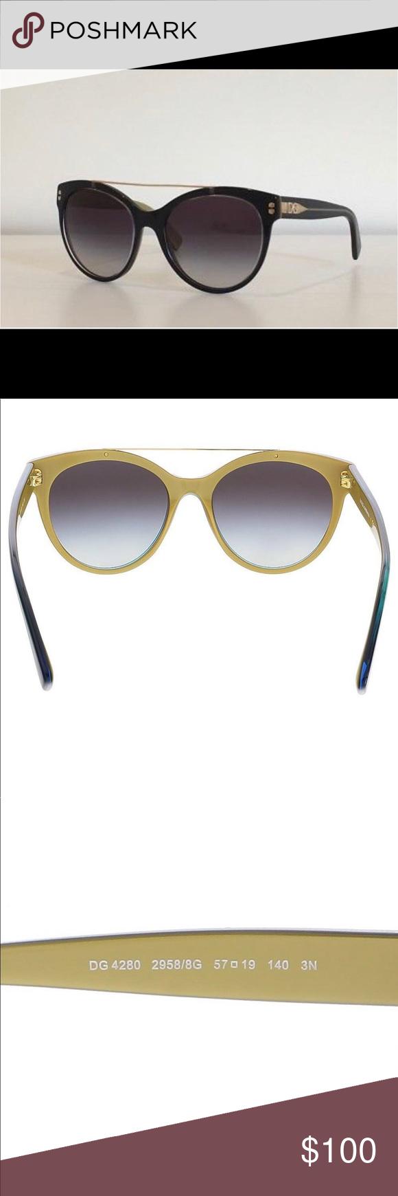 e27e28aad7c0 Dolce   Gabbana DG 4280 Black Cat Eye Sunglasses Dolce   Gabbana Black    Gold Cat