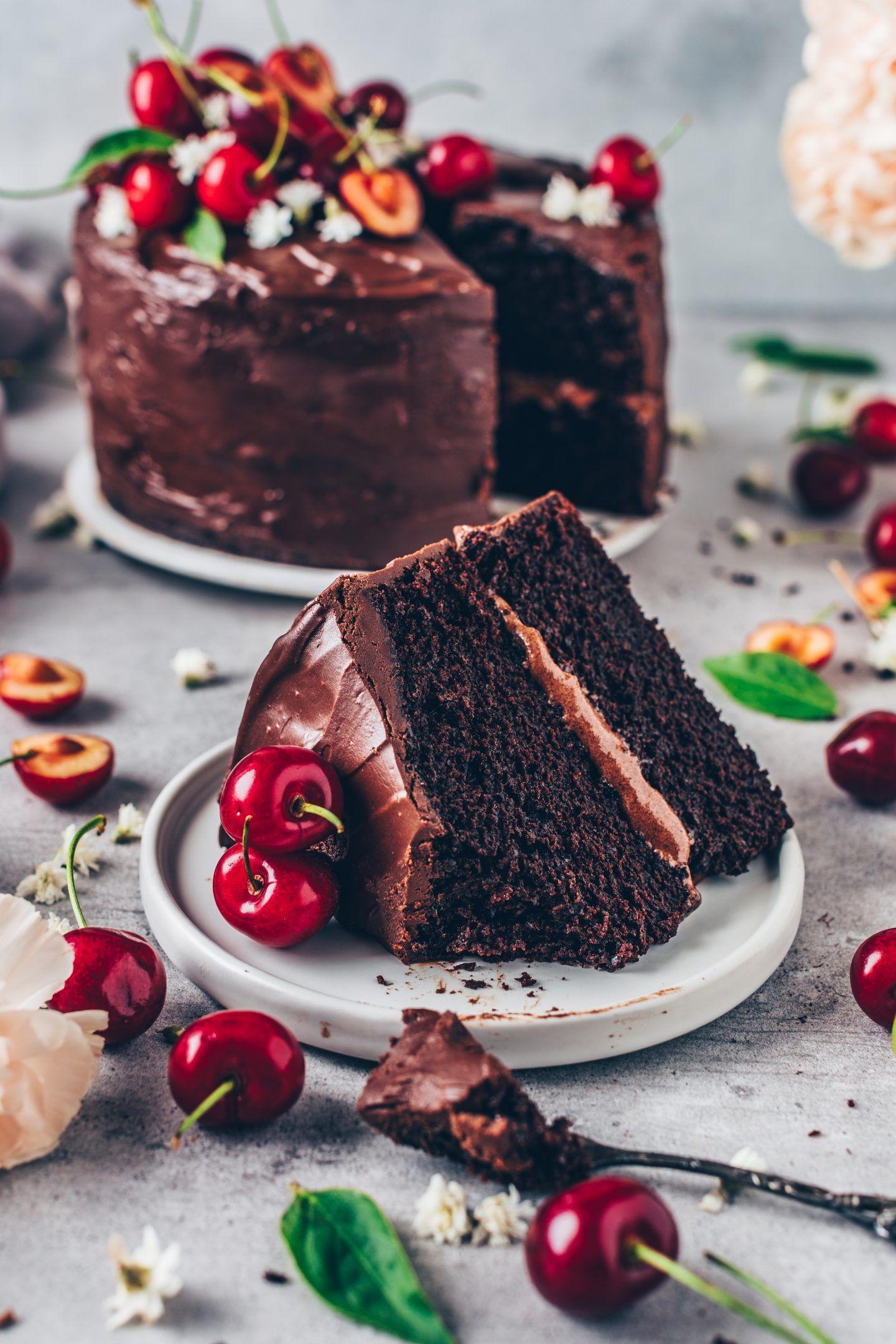 Veganer Schokoladenkuchen (Das beste Rezept) images