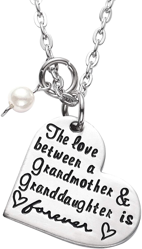 Grandmother and Granddaughter Pendant Necklaces   TrendsGlow