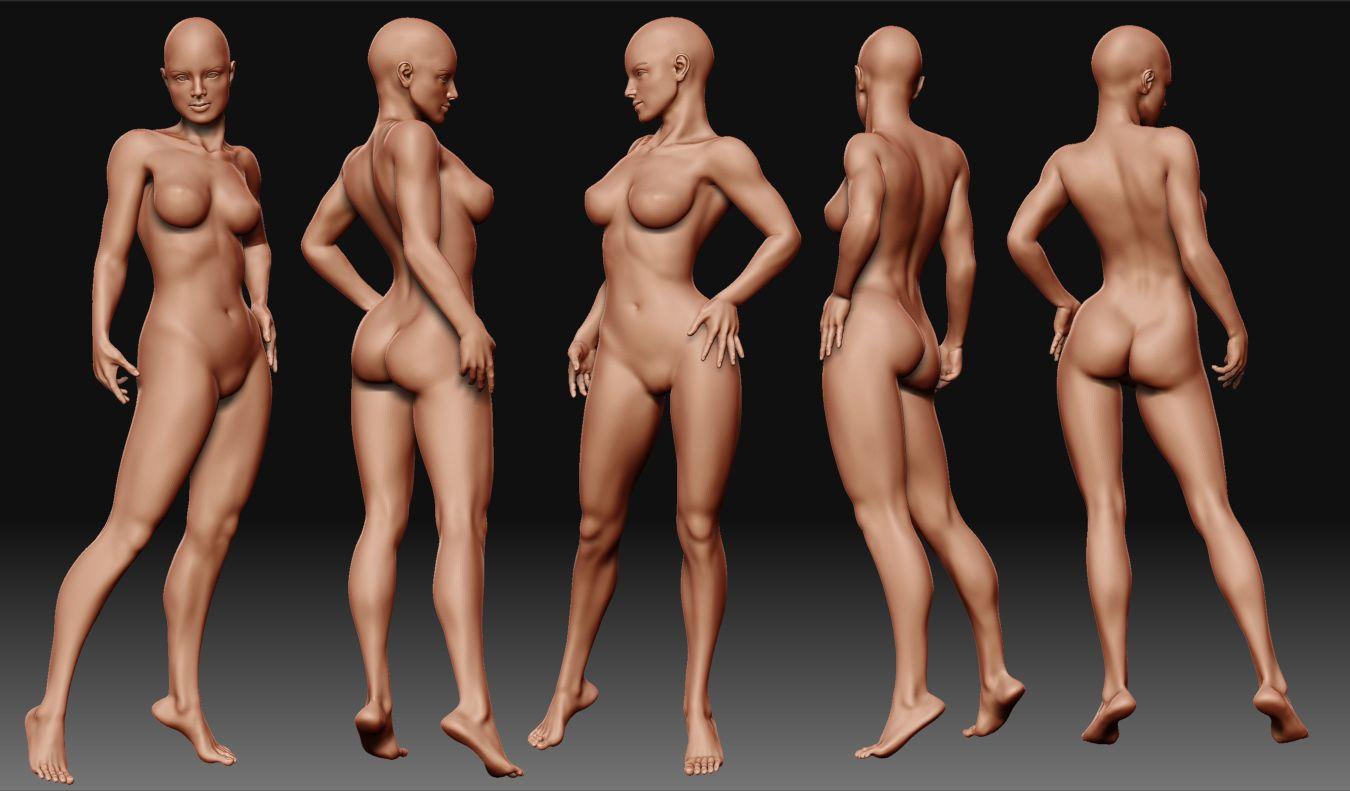 Interactive nude female