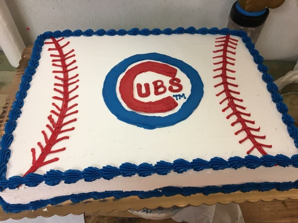 Chicago Cubs Sheet Cake My Cakes In 2019 Baseball