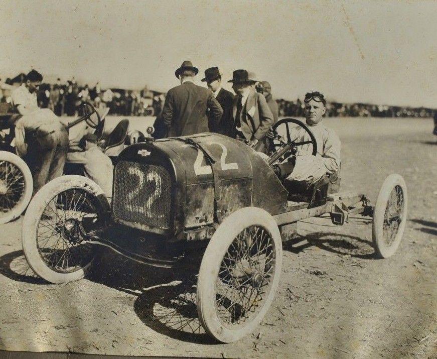 LARGE Vintage 1920 Photo Race Car Handsome Man Hot Rod Original ...