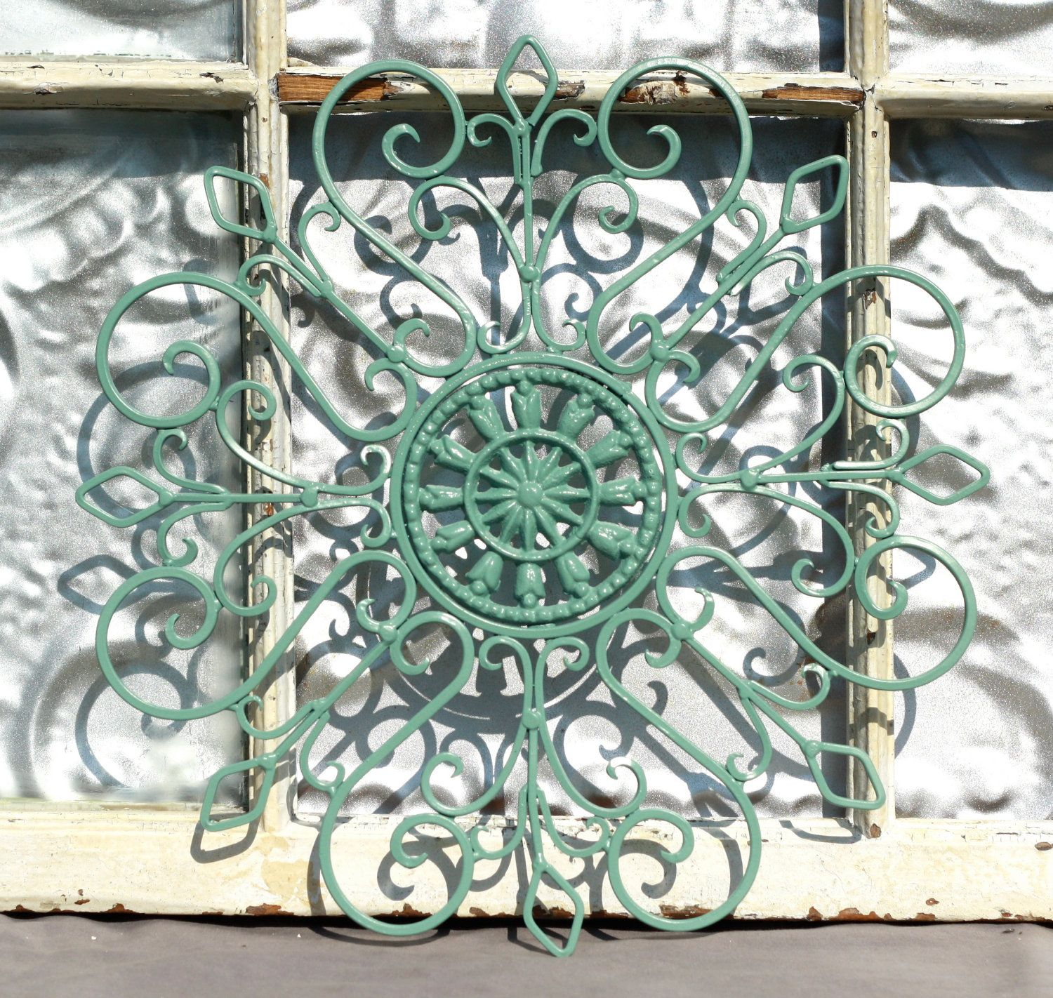 Wrought iron wall decor metal wall hanging indoor for Outside wall art