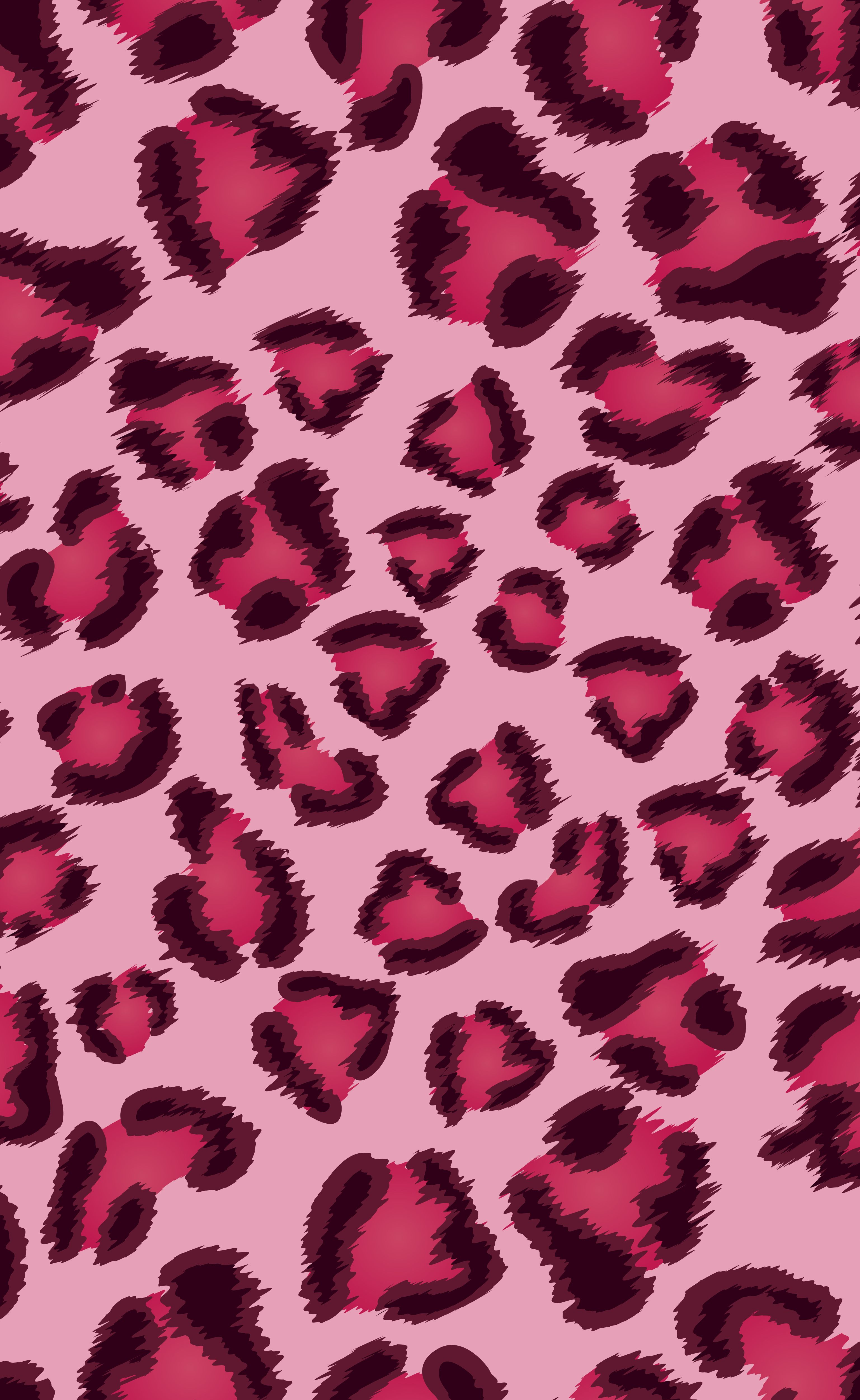 Pink Leopard Texture (with Claret Red Spots). Pink