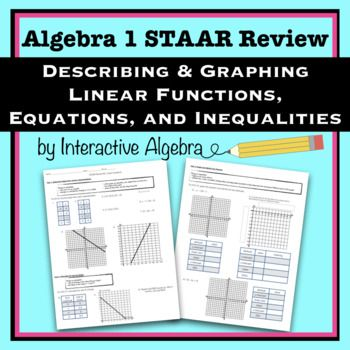 Algebra 1 STAAR Review #2: Graphing Linear Equations and ...