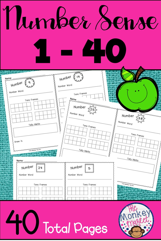 Kindergarten Number Sense Worksheets Pdf