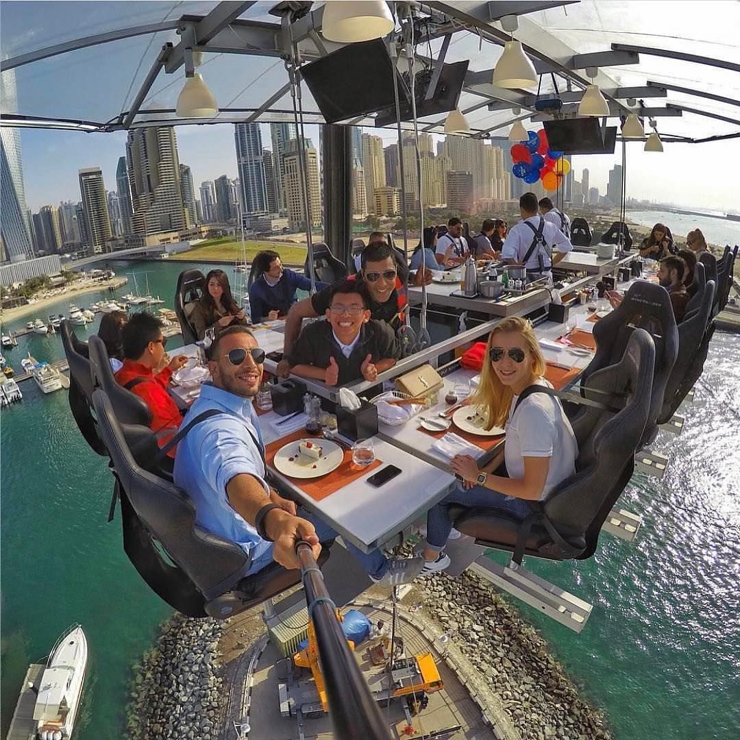 Sky Lunch is one of the amazing things to do in Dubai