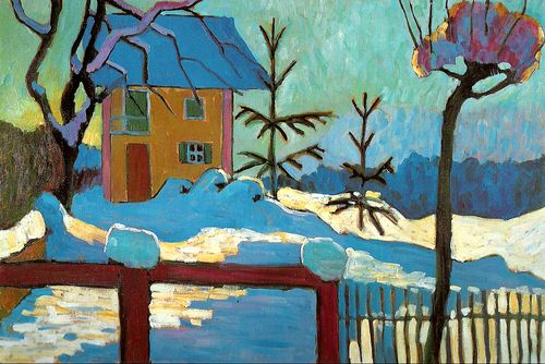 Gabriele Münter - A House in the Winter Sun, 1909